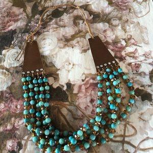 Swarovski embellished multi strand necklace